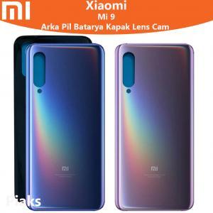 Xiaomi Mi 9 Arka Pil Batarya Kapak Cam